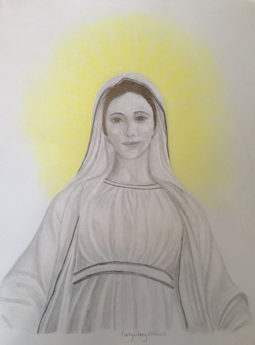 Sketch of The Virgin Mary